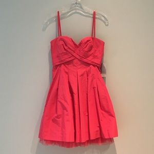 BCBG MaxAzria Strapless Coral Pink Dress, Size 2